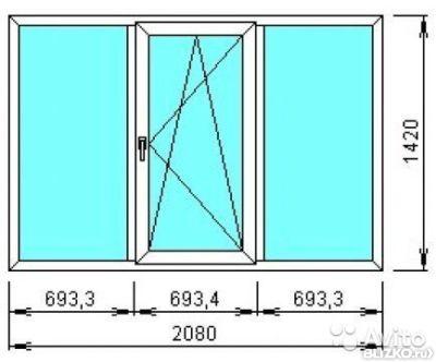 Пластиковые окна rehau 2080*1380 купить в екатеринбурге.