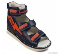 d07a36c42 Обувь ортопедическая сандалии детские Sursil-Ortho 15-319S синий/оранжевый