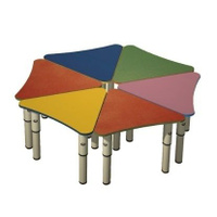 Стол для детского сада Ромашка, 6 лепестков, 1300х460х520 мм