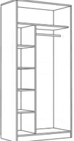 Шкаф для одежды 2-х дверный 600х450х2000\2100 мм